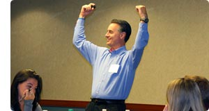 C. Michael Ferraro in action during training class.