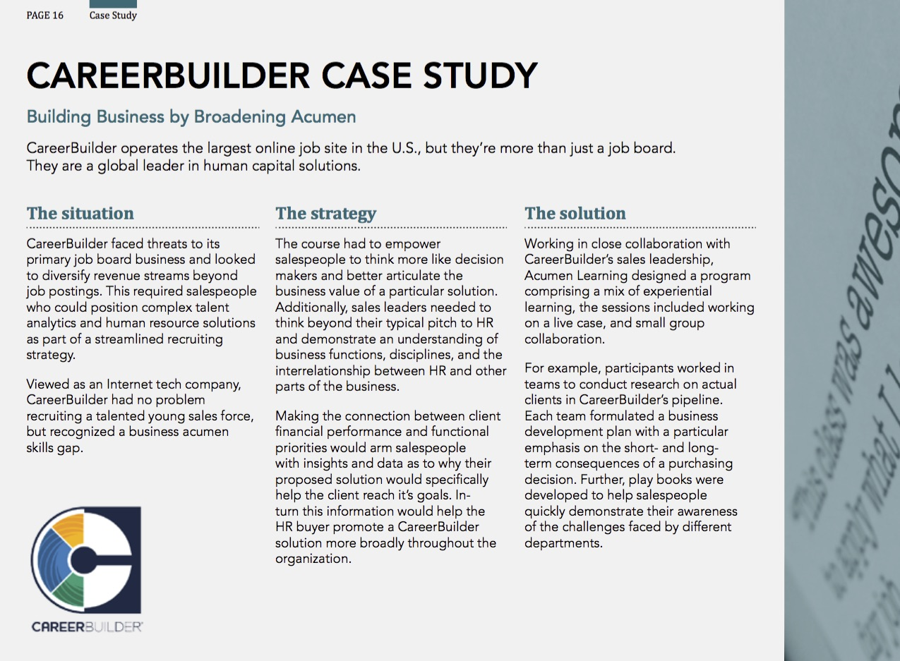 Career Builder Case Study