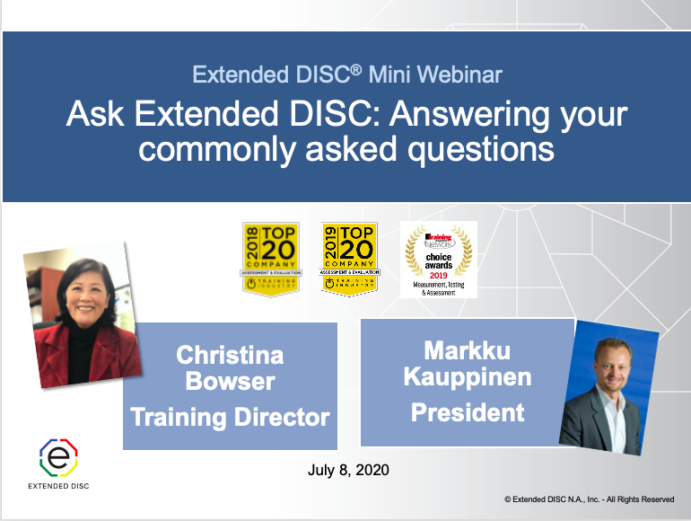 Ask Extended DISC: Answering Commonly As...