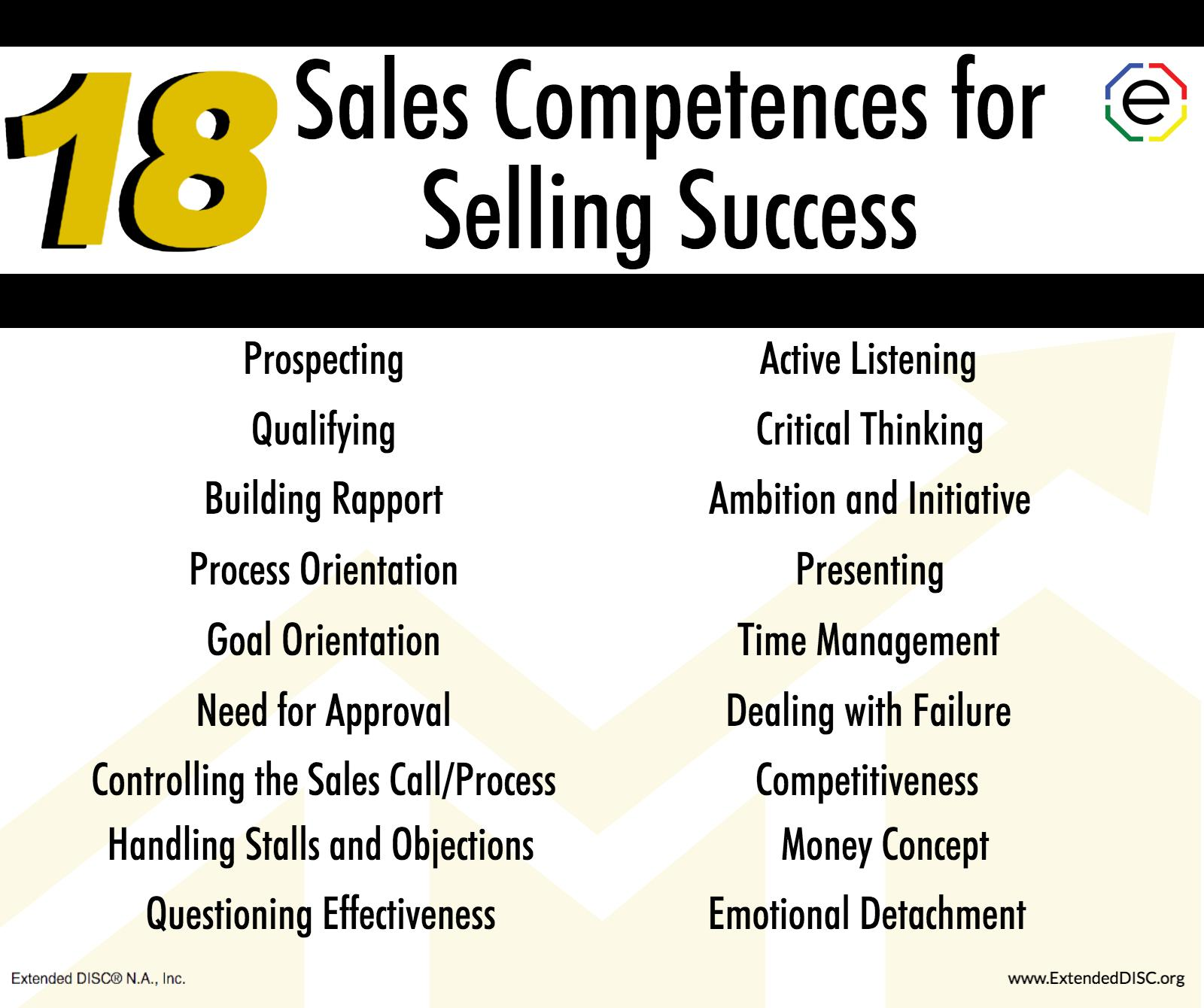 New Sales Assessments: 18 Sales Competences for Sales Success