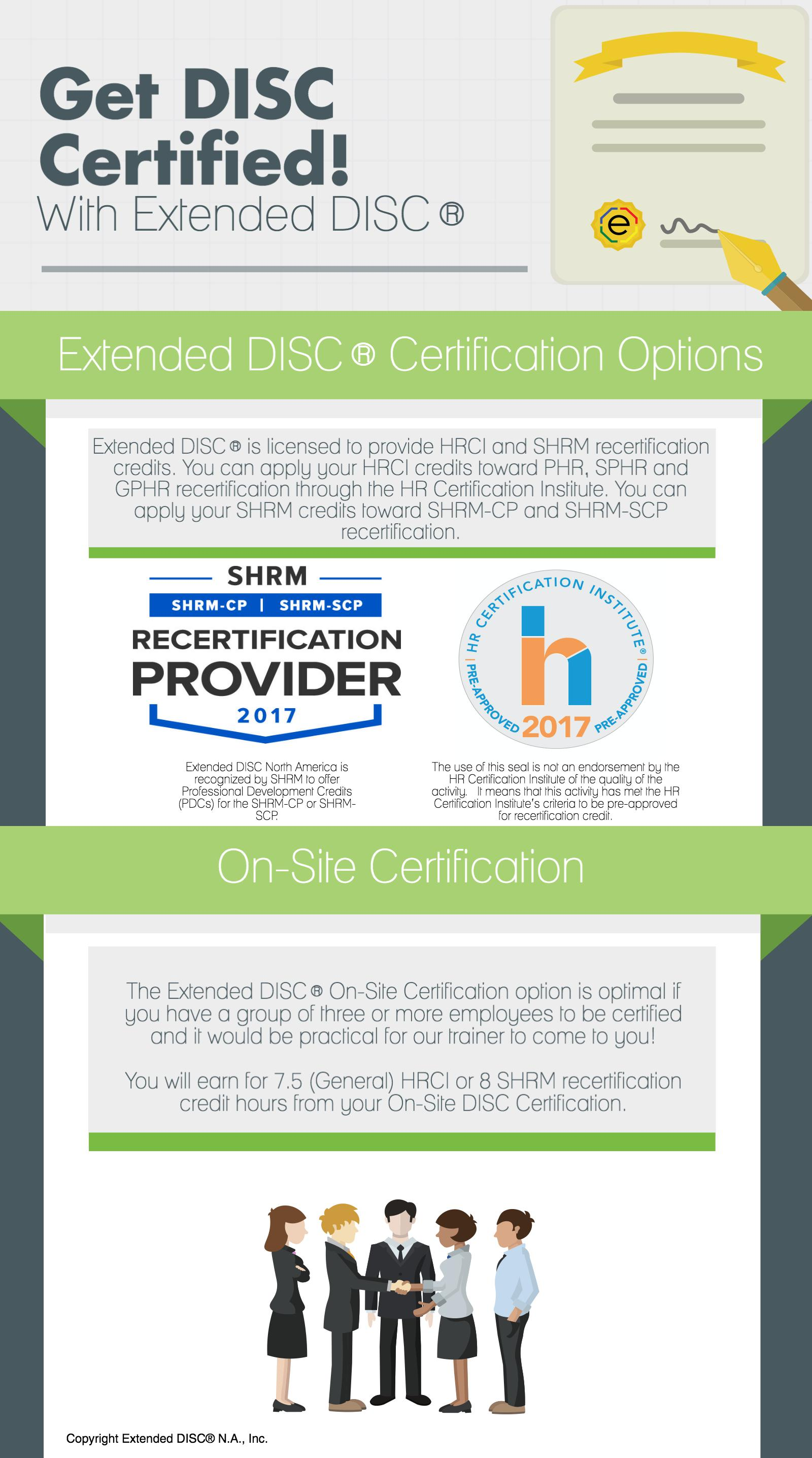 Extended DISC Certification: On-Site