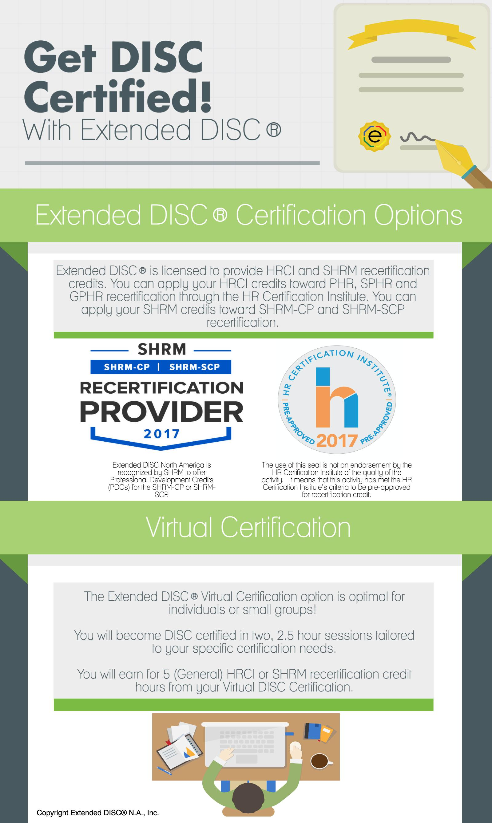 Extended DISC Certification: Virtual
