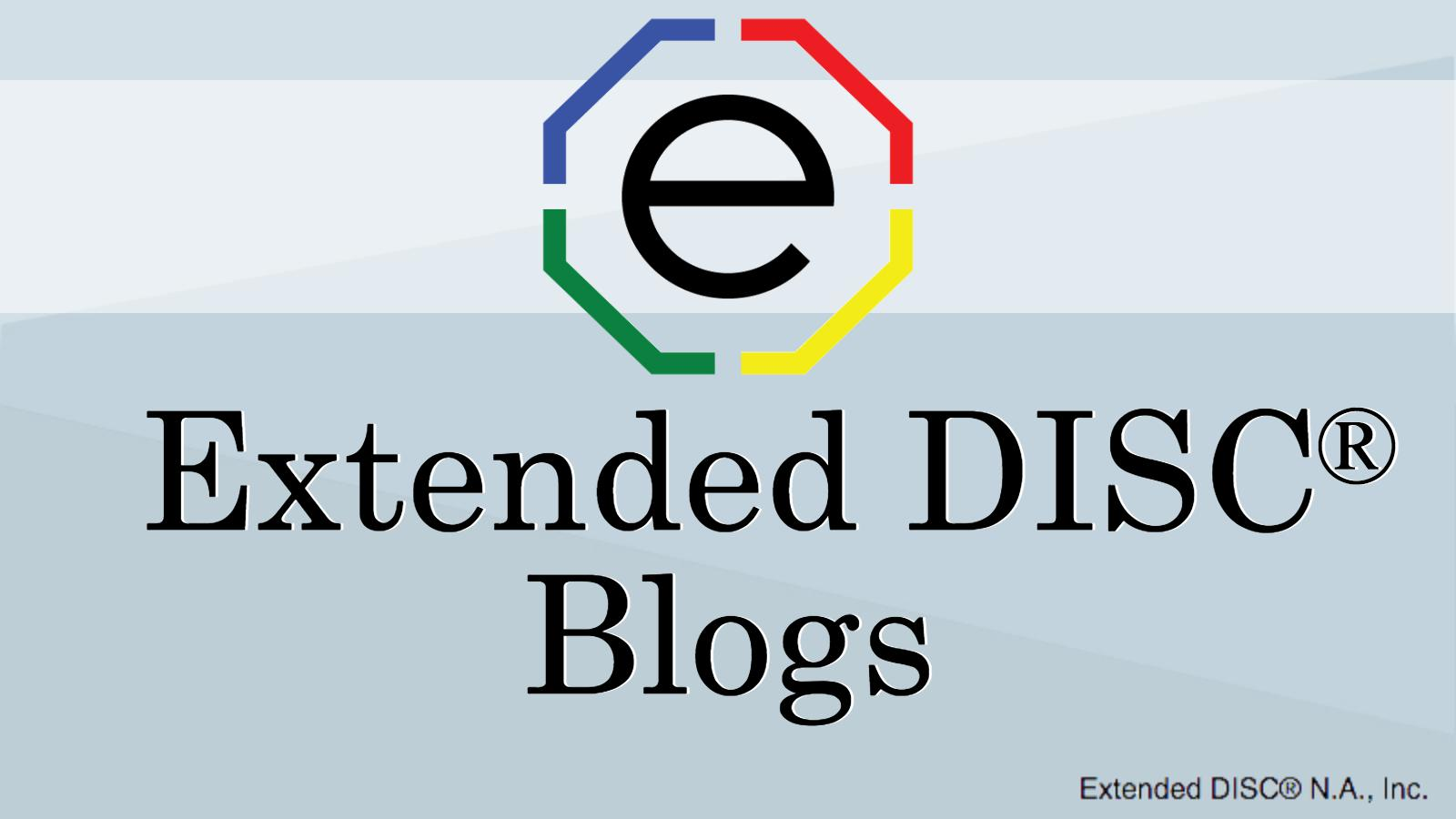 Extended DISC Blogs