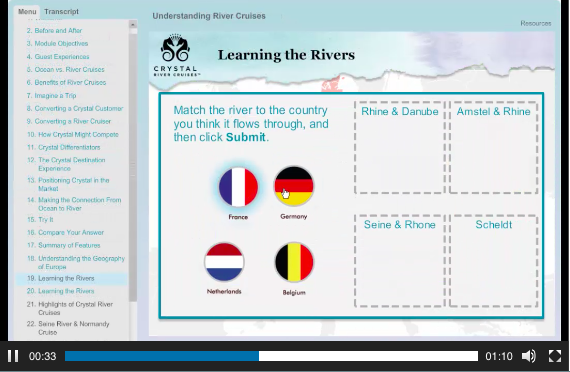 Client Example: Crystal River Cruises